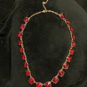 """Jewelry - Red gemstone gold necklace 9"""""""